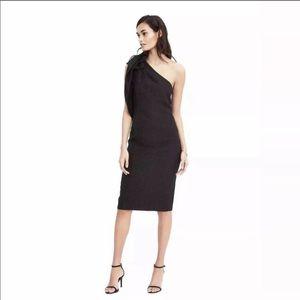 NWT black one shoulder Banana Republic dress